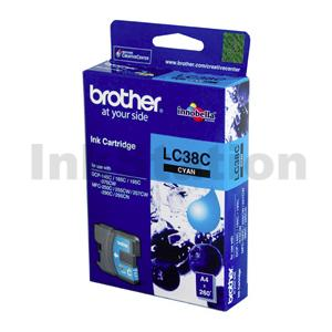 Brother LC-38C Genuine Cyan - 260 pages