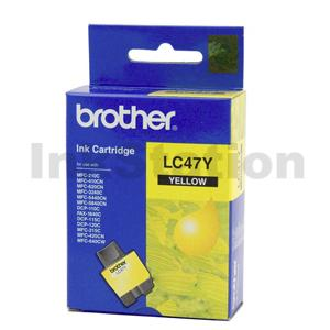 Genuine Brother LC-47Y Yellow Ink Cartridge - 400 pages