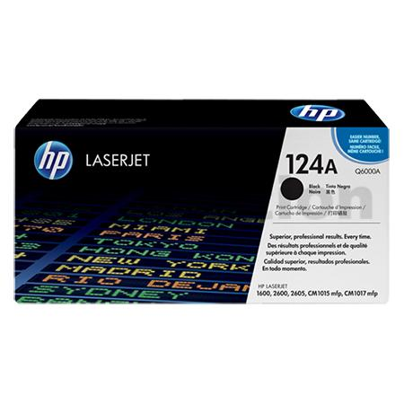 HP Q6000A Black Genuine Toner Cartridge 124A - 2500 pages